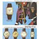 Zenith Watch French Vintage Ad 1965