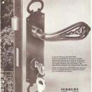 Serrure Brichard Security Lock French Vintage Ad 1965