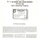 American Express Amex Credit Card French Vintage Ad 1965