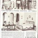Levitan Interior Decorators French Vintage Ad 1965