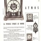 Atmos Clock Jaeger LeCoultre French Vintage Ad 1965