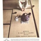 Japan Air Lines JAL Tea French Vintage Ad 1960's