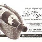 La Vignee Bourgogne Bouchard Pere Fils Wine French Vintage Ad 1965