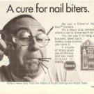 Cure for Nail Biters Elmers Heavy Grip Cement 1971 Vintage Ad