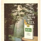 Kool Menthol Cigarettes Bothered by Hot Taste Brown Williamson 1971 Vintage Ad