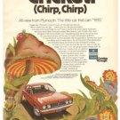 Chrysler Plymouth Cricket Little Car 1971 Vintage Ad