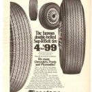 Firestone Sup-R-Belt Tire DeLuxe Champion Vintage Ad 1971