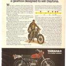 Yamaha Enduros Dirt Bike 125 AT1-C Vintage Ad 1971