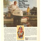 Johnson Loop Charged Sea Horse Outboard 60-hp Vintage Ad 1971