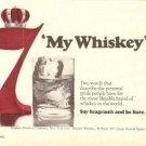 Seagrams 7 Crown Blended Whiskey  Vintage Ad 1971