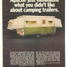 Apache Camping Trailers Solid State Canvas Eliminated Vintage Ad 1971