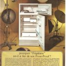 Frigidaire Refrigerator Frost-Proof Tan French Vintage Ad 1966
