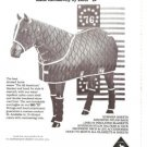 Big D All American Blanket 1983 Vintage Ad Horse World
