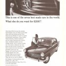 Peugeot Car 2595 Michelin X Tires 1965 Vintage Ad