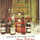 Adrien Bertaillan Wine Bottles Bordeaux Cabernet Gigondas French Vintage Ad 1966