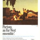 TWA Airlines Phoenix Arizona Partons au Far West Ensemble French Vintage Ad 1966