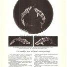 Steuben Glass Speckled Trout Fish Paul Schulze Vintage Ad 1978