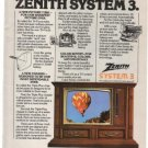 Zenith System 3 Television Puccini SK2527P Tri Focus tube Vintage Ad 1978