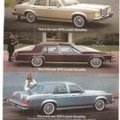 Lincoln Versailles 1979 Luxury Car Ford Vintage Ad 1978
