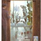 Spiegel Christmas Catalog Lead Crystal Reindeer Vintage Ad 1978