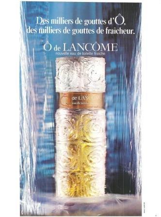 O de Lancome Eau de toilette fraiche Vintage Ad June 1971 French