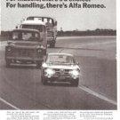 Alfa Romeo 1750 GT Veloce Handling Vintage Ad June 1971
