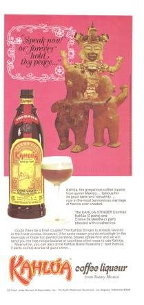 Kahlua Coffee Liqueur Speak Now or Forever Hold Thy Peace Wedding Vintage Ad June 1971