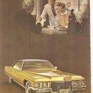 GM Cadillac Sedan deVille 2-page Vintage Ad June 1971