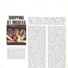Shopping at Moskva Moscow Russia 5p Article 1965 Regine Gabbey