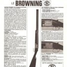 Browning Gun Vintage Ad August 1966 French