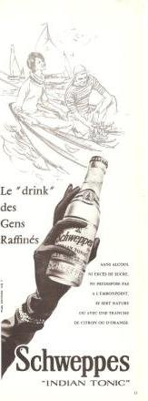 Schweppes Indian Tonic Vintage Ad 1966 French