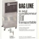 Ariagel Bag Line Airconditioner Filter Refrigerator Vintage Ad May 1966 French