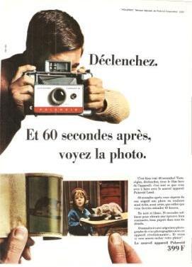 Polaroid 399F Land Camera Automatic 104  Vintage Ad May 1966 French