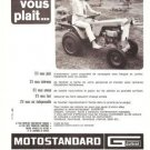 Motostandard Microtractor Gutbrad Vintage Ad 1966 French