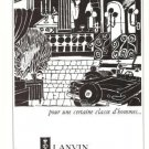 Lanvin Tailor Havmont Vintage Ad May 1966 French