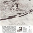 Culligan Water Filter Swimming Pool Vintage Ad 1966 French