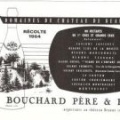 Bouchard Pere Fils Domaines du Chateau de Beaune Wine Vintage Ad May 1966 French