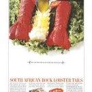 South African Rock Lobster Tails Vintage Ad June 1969