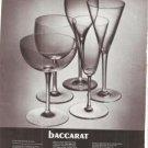 Baccarat Wine Glasses Glass Vintage Ad June 1969