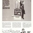 Bosch Dishwasher Appliances Vintage Ad April 1966 French