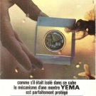 Yema International Mechanical Cube Vintage Ad April 1966 French