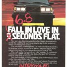 Volvo Intercooled Turbo Car Vintage Ad 1984 Olympic Games