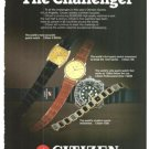 Citizen Watch Challenger 4 Mega 790 Professional Diver 1300M 1500 Vintage Ad 1984 Olympic Games