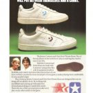Converse Jimmy Connors Chris Evert Tennis Shoes Vintage Ad 1984 Olympic Games