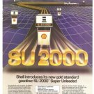 Shell SU 2000 Gasoline Gold Standard Vintage Ad 1984 Olympic Games