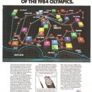 Pacific Bell Challenges Fiber Optics Vintage Ad 1984 Olympic Games
