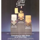 Zippo Eternal Flame Lighter Vintage Ad 1984 Olympic Games