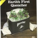 Perrier Earth's First Quencer Mineral Water Vintage Ad 1984 Olympic Games