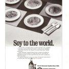 Kikkoman Soy Sauce to the World Vintage Ad 1984 Olympics