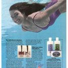 UltraSwim Solution Shampoo Conditioner Skin Care Bar Vintage Ad 1984 Olympics